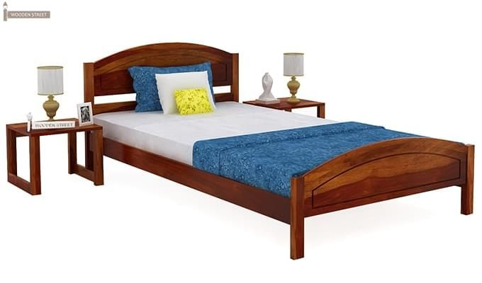 Zoey Single Bed (Honey Finish)-2