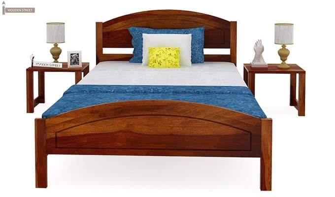 Zoey Single Bed (Honey Finish)-6