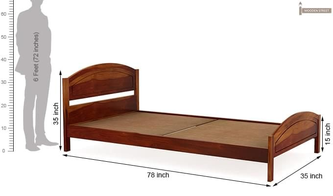 Zoey Single Bed (Honey Finish)-7