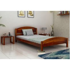 Zoey Single Bed (Honey Finish)