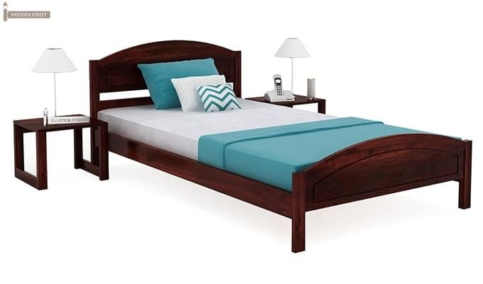 Zoey Single Bed (Mahogany Finish)-1
