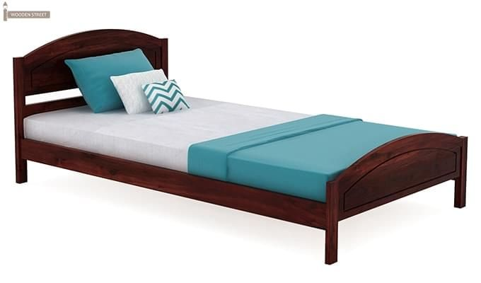 Zoey Single Bed (Mahogany Finish)-2