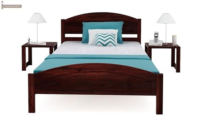 Zoey Single Bed (Mahogany Finish)-3