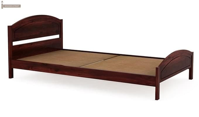 Zoey Single Bed (Mahogany Finish)-4
