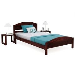 Zoey Single Bed (Mahogany Finish)