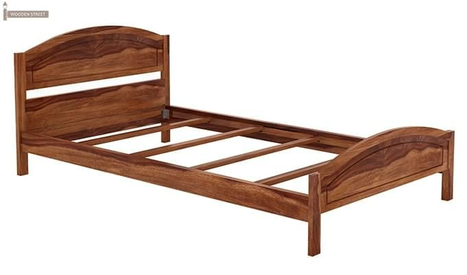 Zoey Single Bed (Teak Finish)-4