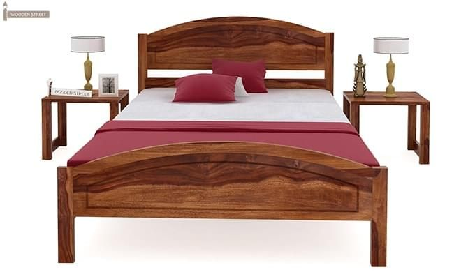 Zoey Single Bed (Teak Finish)-5