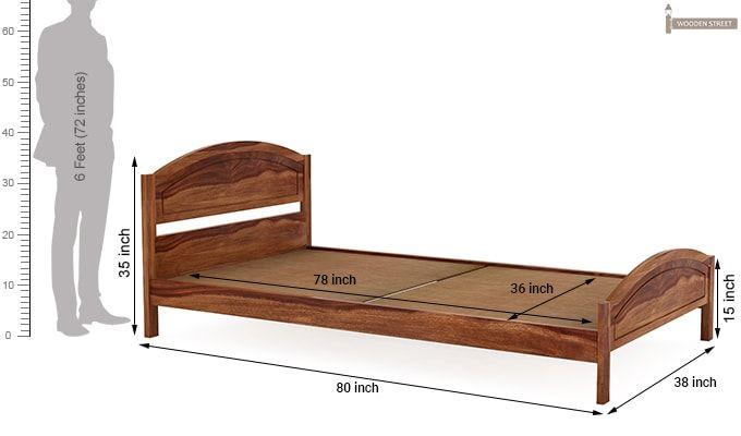 Zoey Single Bed (Teak Finish)-6