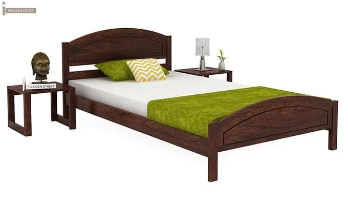 Zoey Single Bed (Walnut Finish)-1