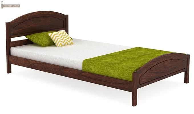 Zoey Single Bed (Walnut Finish)-2