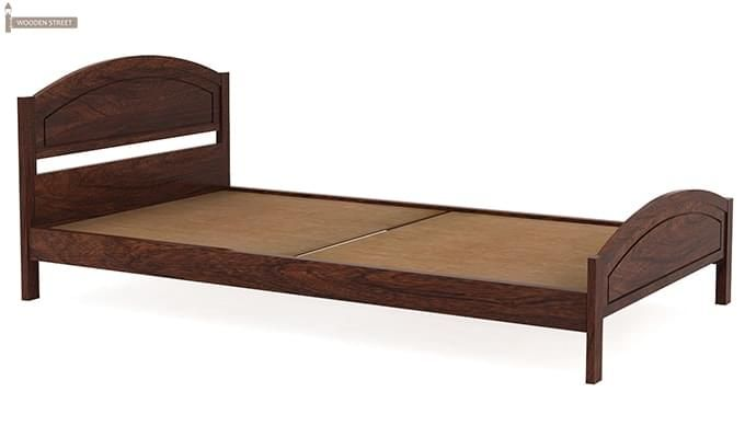 Zoey Single Bed (Walnut Finish)-3