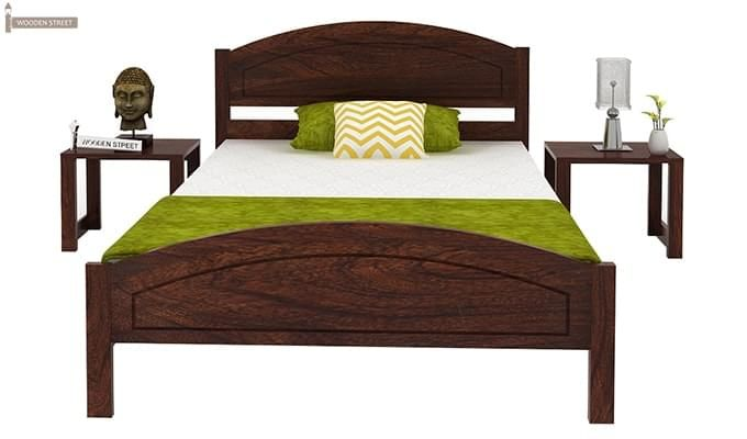 Zoey Single Bed (Walnut Finish)-5
