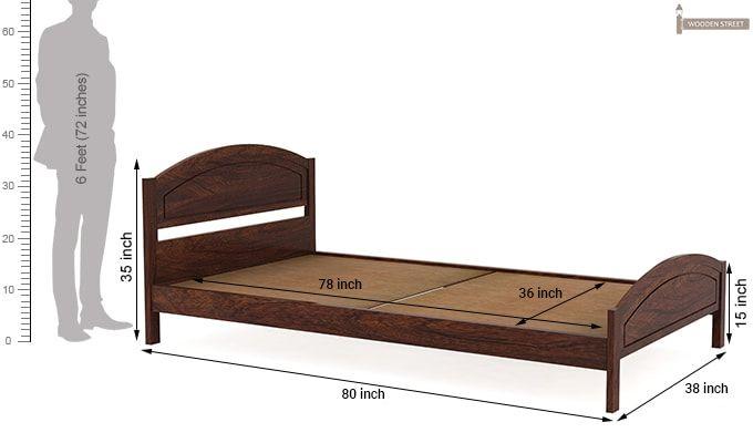 Zoey Single Bed (Walnut Finish)-6