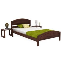 Zoey Single Bed (Walnut Finish)