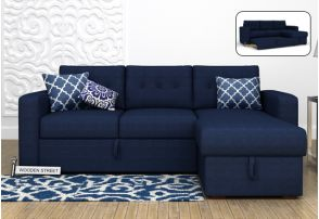 L Shaped Sofa Bed Chennai Surat Thane In Blue