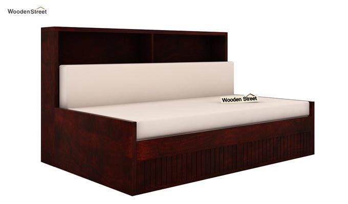 Arley Sofa Cum Bed (Queen Size, Mahogany Finish)-3