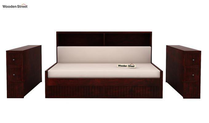 Arley Sofa Cum Bed (Queen Size, Mahogany Finish)-7