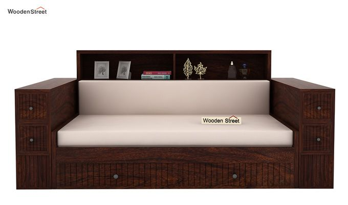 Arley Sofa Cum Bed (Queen Size, Walnut Finish)-2