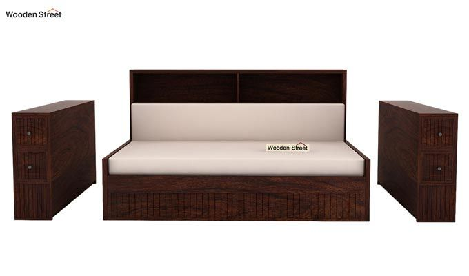 Arley Sofa Cum Bed (Queen Size, Walnut Finish)-7
