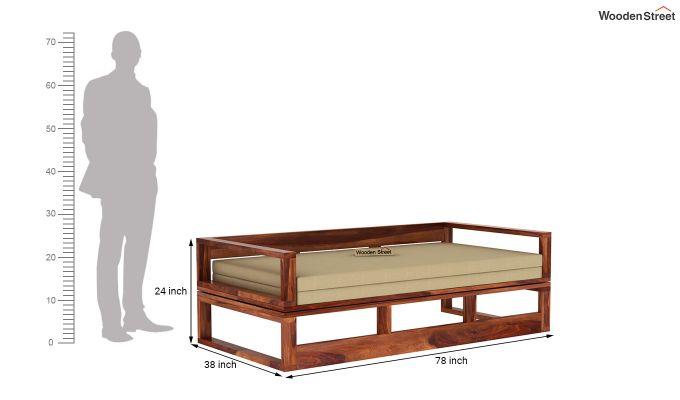 Bacon Divan Cum Bed (King Size, Honey Finish)-9
