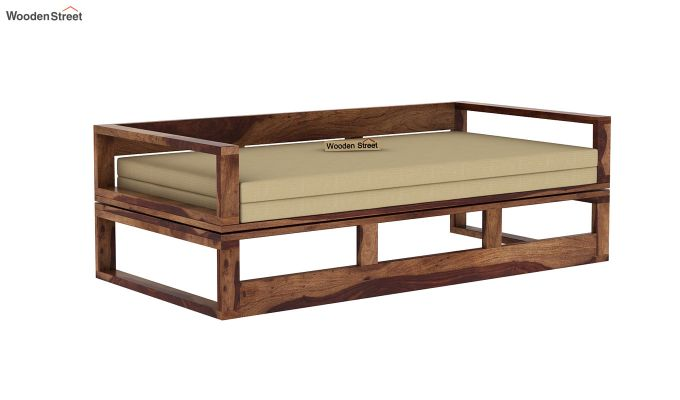 Bacon Divan Cum Bed (King Size, Teak Finish)-3