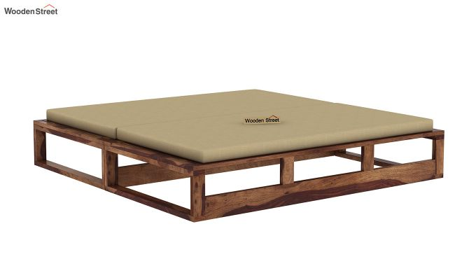 Bacon Divan Cum Bed (King Size, Teak Finish)-5