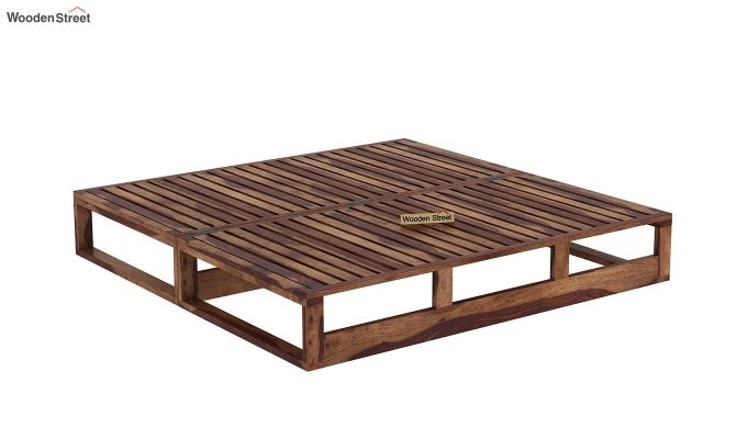 Bacon Divan Cum Bed (King Size, Teak Finish)-7
