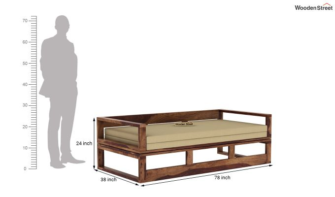 Bacon Divan Cum Bed (King Size, Teak Finish)-9