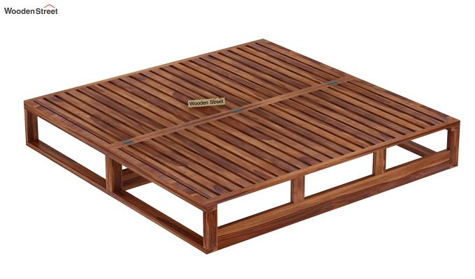 Buy bacon divan cum bed king size irish cream teak for Cheap king size divan