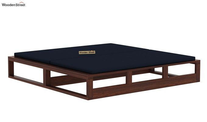 Bacon Divan Cum Bed (King Size, Indigo Ink, Walnut Finish)-5