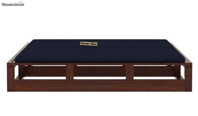 Bacon Divan Cum Bed (King Size, Indigo Ink, Walnut Finish)-6