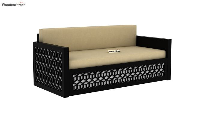 Betty Sofa Cum Bed (King Size, Black Finish)-3