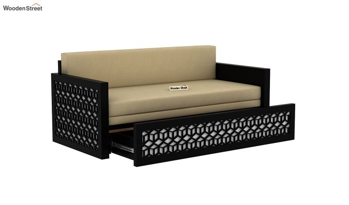 Betty Sofa Cum Bed (King Size, Black Finish)-5