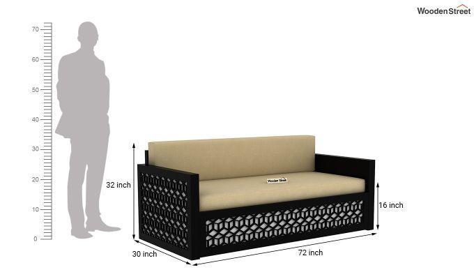 Betty Sofa Cum Bed (King Size, Black Finish)-11