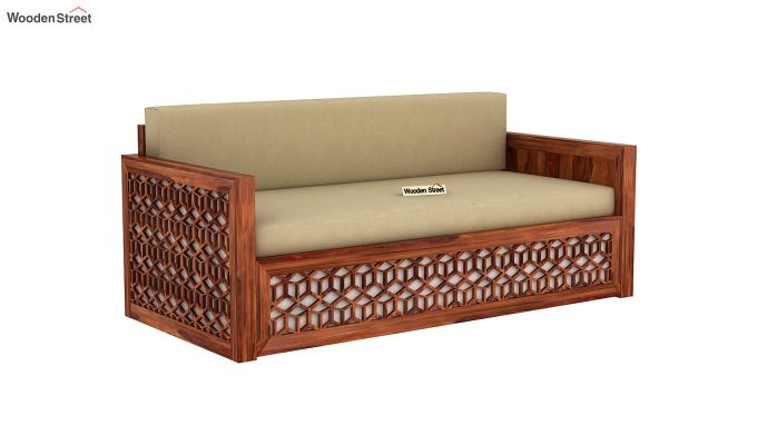 Betty Sofa Cum Bed (King Size, Honey Finish)-3