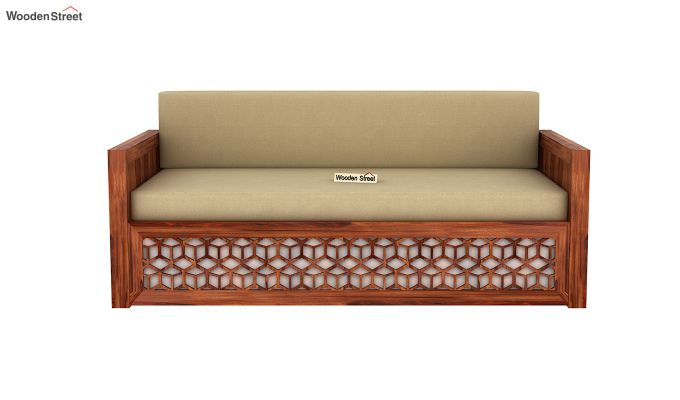 Betty Sofa Cum Bed (Queen Size, Honey Finish)-4