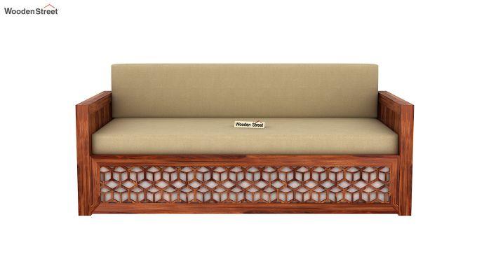 Betty Sofa Cum Bed (King Size, Honey Finish)-4