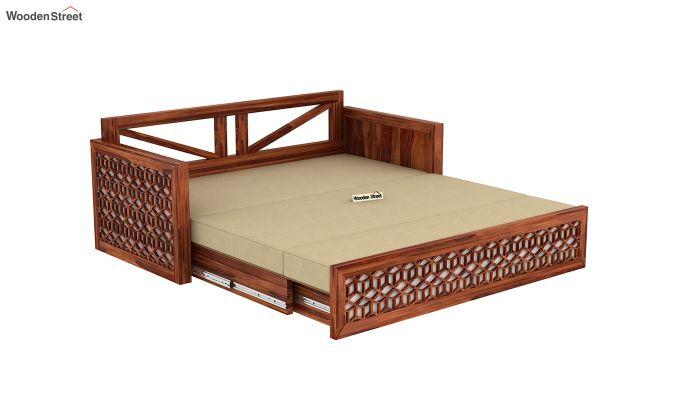Betty Sofa Cum Bed (King Size, Honey Finish)-10