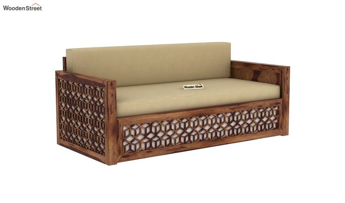 Betty Sofa Cum Bed (Queen Size, Teak Finish)-3