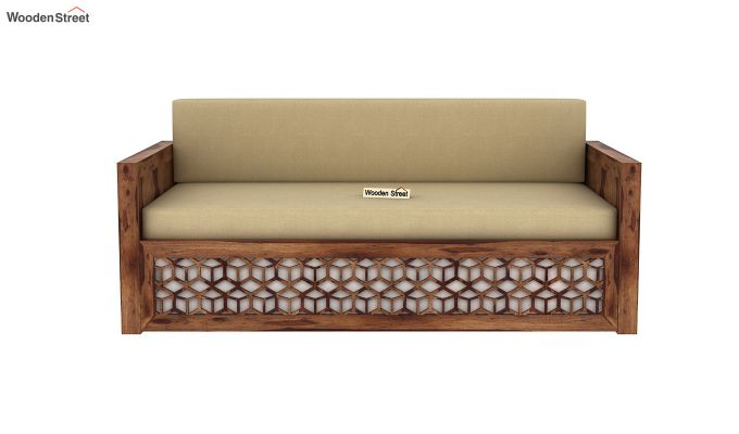 Betty Sofa Cum Bed (Queen Size, Teak Finish)-4