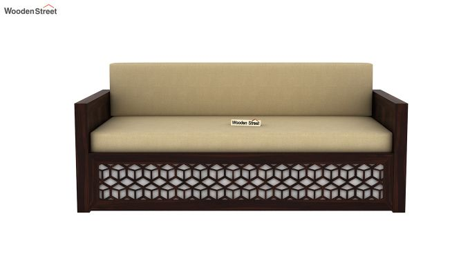 Betty Sofa Cum Bed (King Size, Walnut Finish)-4