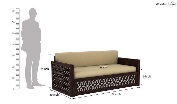 Betty Sofa Cum Bed (King Size, Walnut Finish)-11