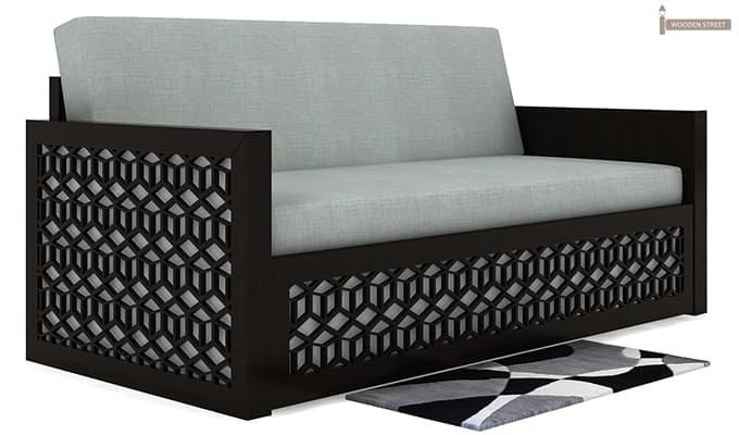 Betty Sofa Cum Bed (Queen Size, Black Finish)-3
