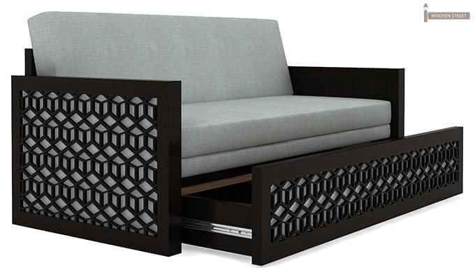 Betty Sofa Cum Bed (Queen Size, Black Finish)-5