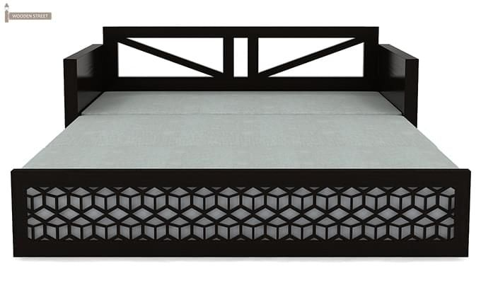 Betty Sofa Cum Bed (Queen Size, Black Finish)-11