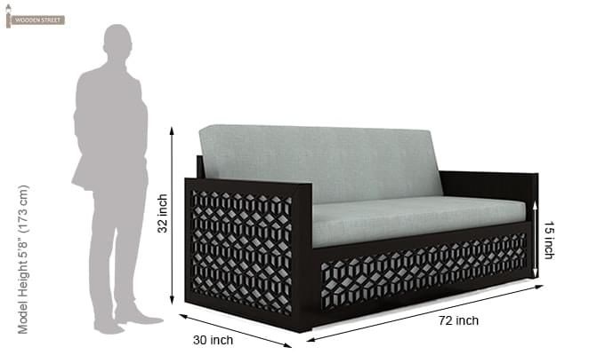 Betty Sofa Cum Bed (King Size, Black Finish)-12