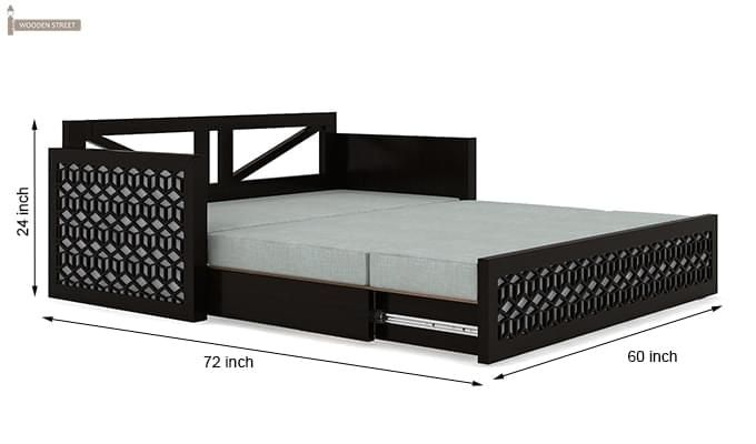 Betty Sofa Cum Bed (Queen Size, Black Finish)-12