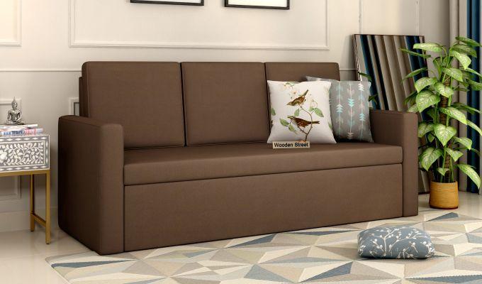 Claridge Fabric Sofa Cum Bed (Classic Brown)-1