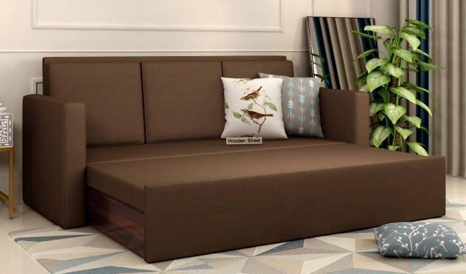 Claridge Fabric Sofa Cum Bed (Classic Brown)-2