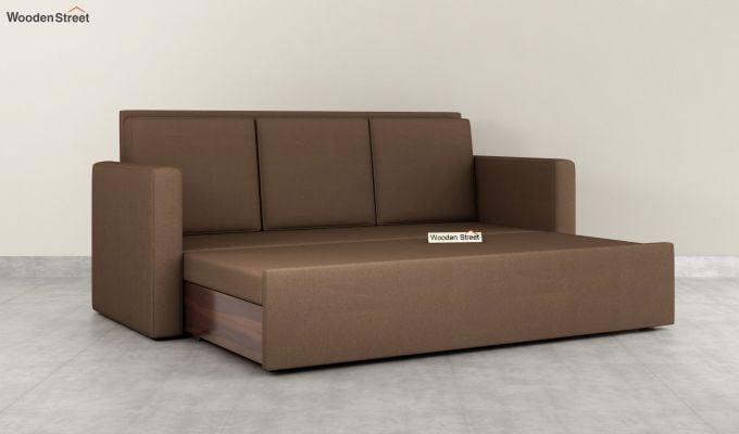 Claridge Fabric Sofa Cum Bed (Classic Brown)-6